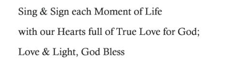 Trust in God & Faith in Ourselves; Love & Light; God Bless